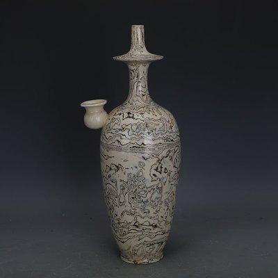 ㊣姥姥的寶藏㊣ 唐代白地全手工絞胎瓷淨瓶  文物出土古瓷器古玩古董收藏擺件