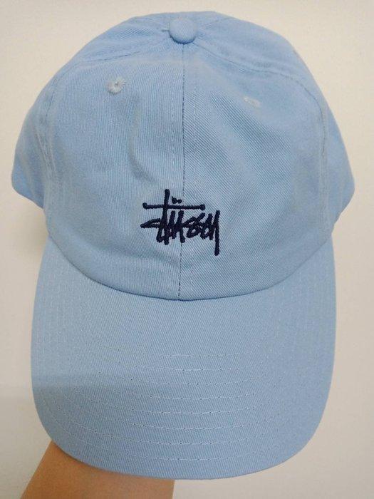 【現貨台灣立刻出】刺繡 經典 水藍色 棒球帽 鴨舌帽 可調式帽子 質感 潮 爆款
