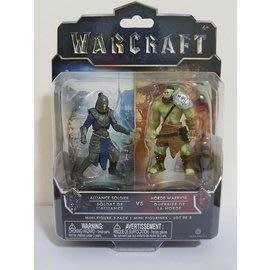 電影 WARCRAFT《魔獸:崛起》2吋 公仔組 Horde 戰士 2 & Alliance 士兵 2款角色1組 收藏