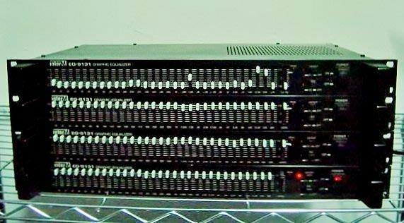 【小劉2手家電】INTERM EQ-9131 GRAPHIC EQUALIZER 混音器,每台2000元