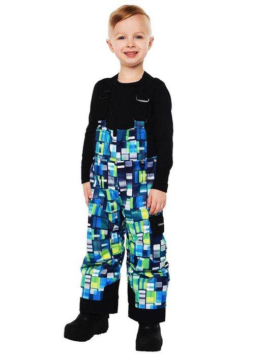 【荳荳物語】美國品牌Obermey鋪棉保暖吊帶童滑雪褲印花款,防水係數10k,2380元