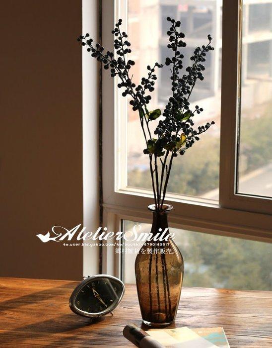[ Atelier Smile ] 鄉村雜貨 小花園系列 仿真藍莓野莓裝飾果樹 仿真植物 高三叉款 兩色選 (現+預)