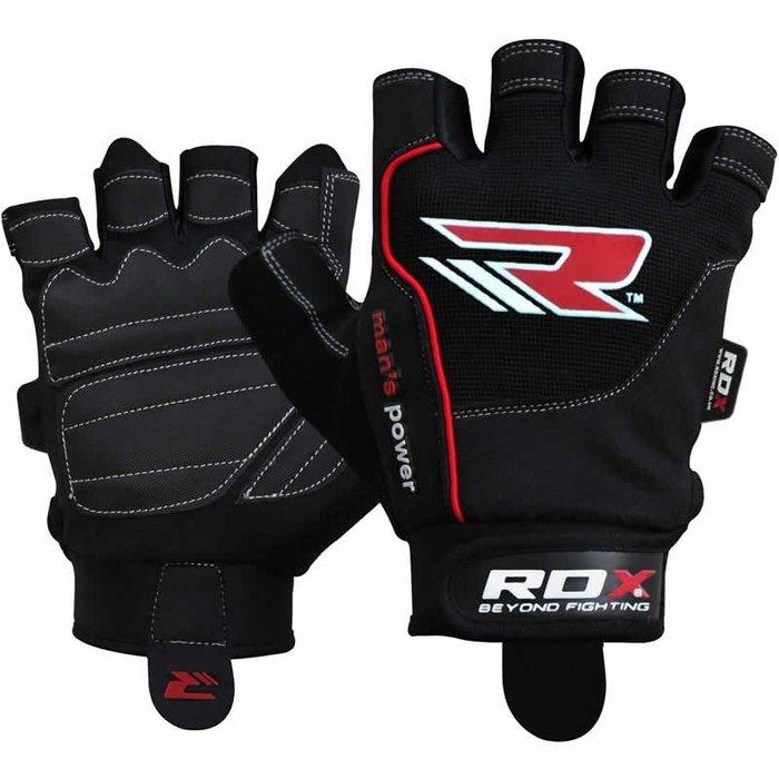 【神拳阿凱】RDX 英國 WGA-S1B 重訓健身訓練手套 透氣手指加強防磨快脫型 短手套(免運)