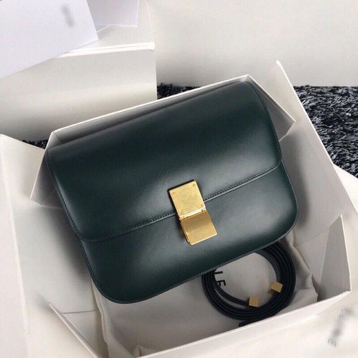 【海外原單】義大利胎牛皮classicBox豆腐包肩挎包斜跨包