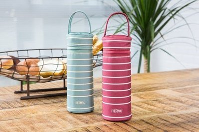 THERMOS 膳魔師杯瓶提袋 Z-BCJNL-500 SR(條紋紅)/SG(條紋綠)二色任選 公司貨 超取 離島