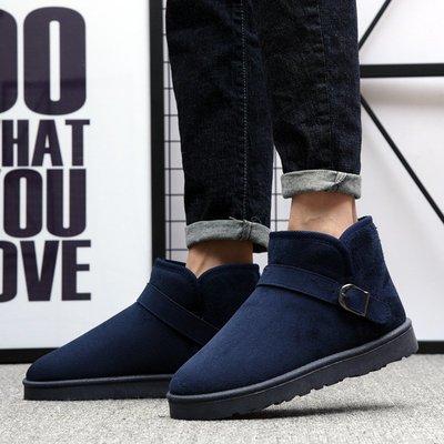【最新款】保暖面包男士短靴靴子雪地新款冬季加絨情侶韓版