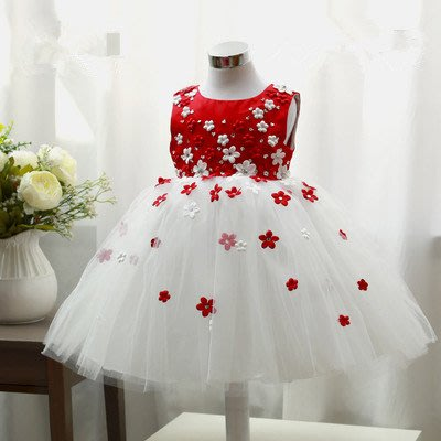 表演服小女孩公主裙兒童演出服女童寶寶花童禮服大合唱服(6-11)
