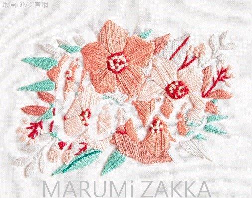 ☆ MARUMi 雜貨 ☆【DMC法國LOVE FLOWER(5號線刺繡材料包)】