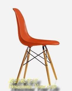 【DYL】美國 Eames 復刻款 DSW 造型餐椅-紅(全館一律免運費)