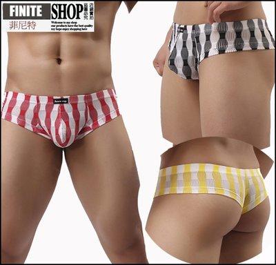 Finite-菲尼特-半包臀男士性感內褲 半透明低腰大丁字褲 喜慶燈籠情趣內褲夏