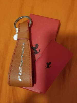 原廠 Ferrari F12 Leather Key Ring