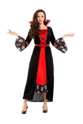 乂世界派對乂 萬聖節服裝,萬聖節道具,變裝派對,成人變裝服/歌德服裝/華麗骷髏女王裝