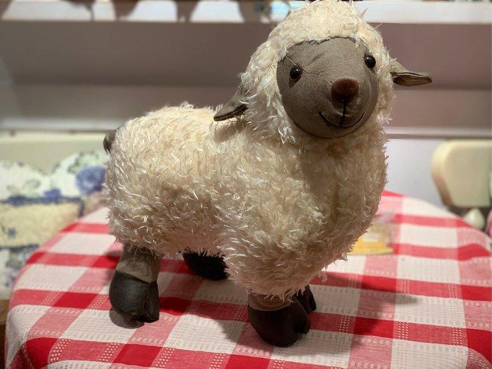 *黑頭小羊雜貨小舖*日本帶回zakka~黑頭小綿羊裝飾絨毛玩偶門擋/綿羊玩偶/綿羊絨毛娃娃