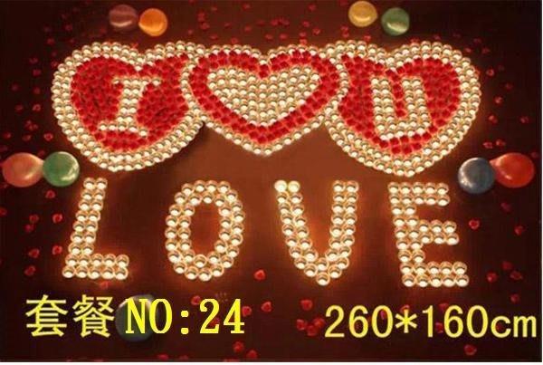 ☆創意小物店☆特價 心型套餐NO:24 /排字蠟燭/求婚蠟燭/生日蠟燭/情人節禮物 浪漫表白必備