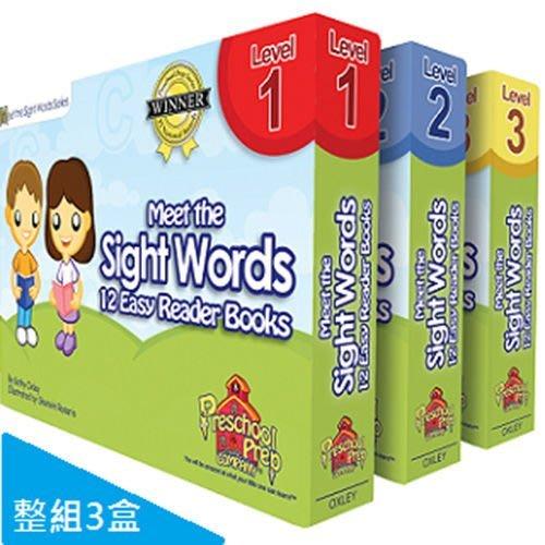 ☆天才老爸☆→美國【PreSchool Prep】幼兒美語學習Sight Words 常見字讀本組(共3盒)學齡前 幼教