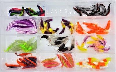 德國 ProBaitsPaladin 鱒魚路亞套裝122件魚餌 假餌鉤軟餌仿生餌假餌路亞餌軟蟲魚餌海釣釣魚溪釣 德國製