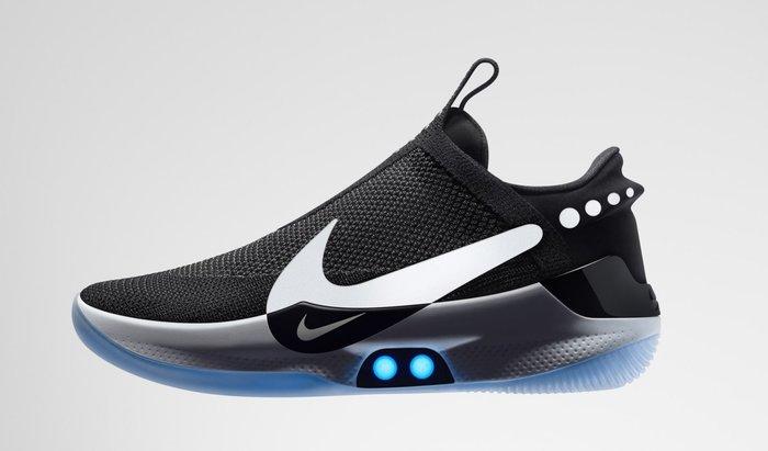 Nike Adapt BB Black Pure Platinum AO2582-001黑白藍自動綁鞋帶無線充電回到未来