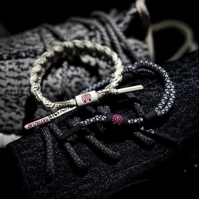 RASTACLAT潮流~YEEZY BOOST THE 350(黑結繩)編織手環