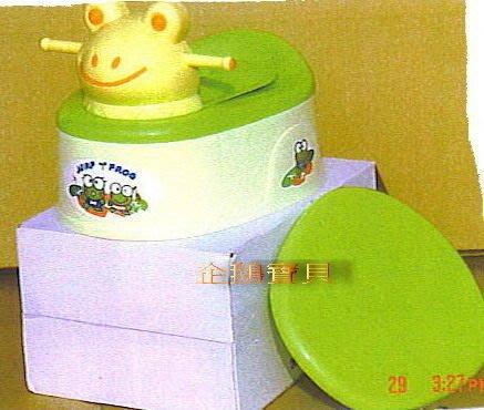 @企鵝寶貝二館@大眼蛙便器、便盆、馬桶~可放馬桶上(多功能)