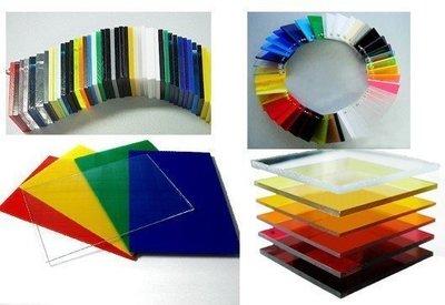有色壓克力板:紅,黃,藍,綠,黑,白色,厚度2mm (長30cm*寬30cm) * 單色3片一組賣場