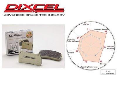 日本 DIXCEL M-type 前 來令片 剎車皮 Honda CR-V 1代 96-01 專用