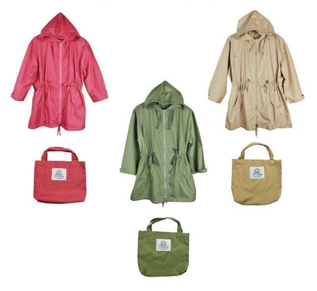 日式腰拉繩式時尚雨衣風衣(特價中)