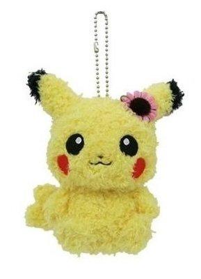 尼德斯Nydus~* 日本正版 寶可夢 神奇寶貝Pokemon 絨毛玩偶 娃娃 公仔 女生 小花皮卡丘 吊飾 約13cm
