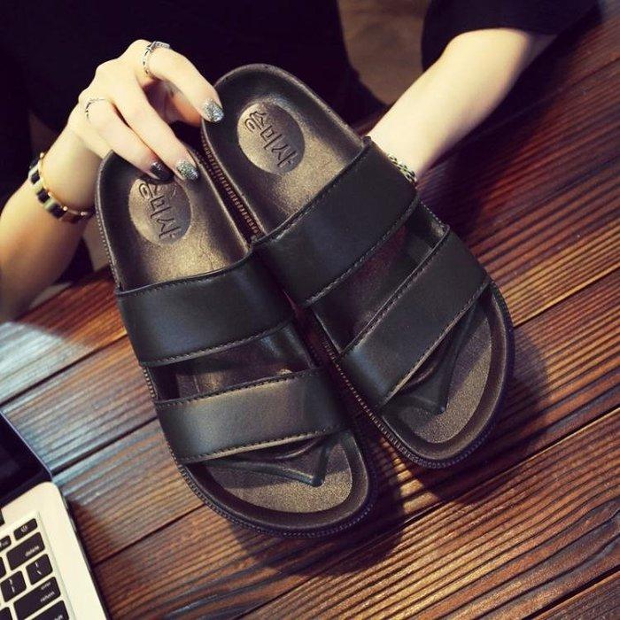 拖鞋-拖鞋夏季一字拖室外休閒涼拖男士涼鞋韓版防滑沙灘鞋外穿人字潮拖 全館免運