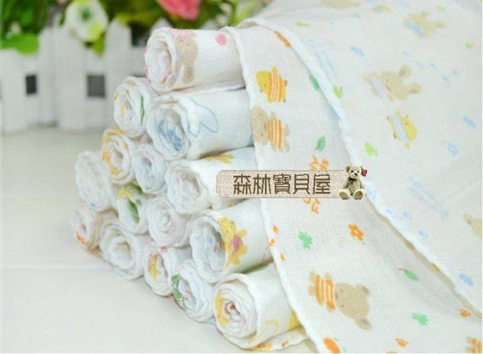 森林寶貝屋~高密度紗布巾~餵奶巾~口水巾~小方巾~手帕~擦汗巾~洗澡巾~隨機發貨