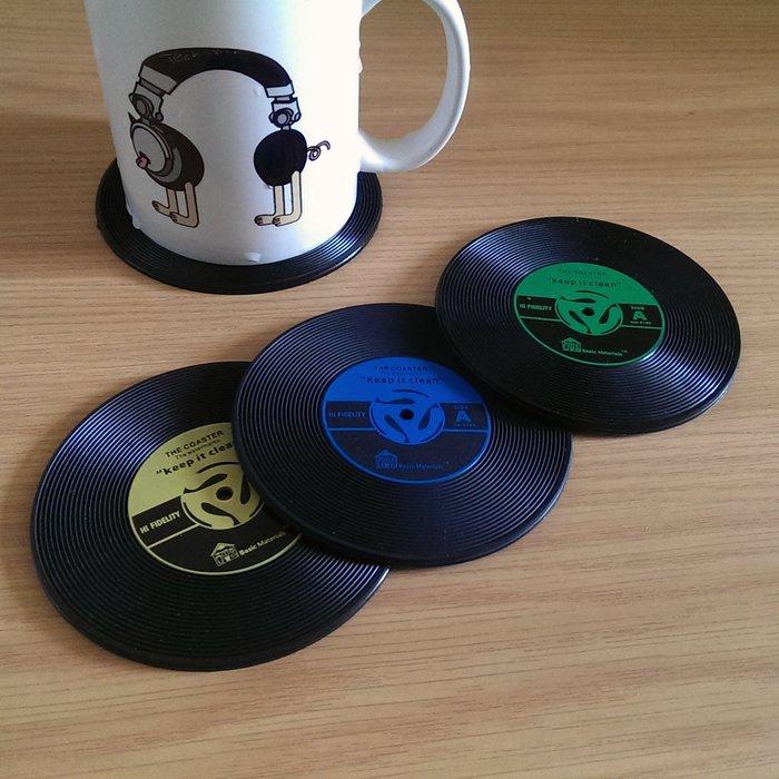 清倉特價2折- 唱片造型杯墊一組兩入 售完為止