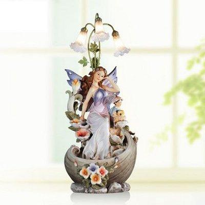 5Cgo 【宅神】含稅會員有優惠39345743255 客廳臥室流水噴泉擺件婚慶加濕器禮物家居飾品擺設燈飾歐式
