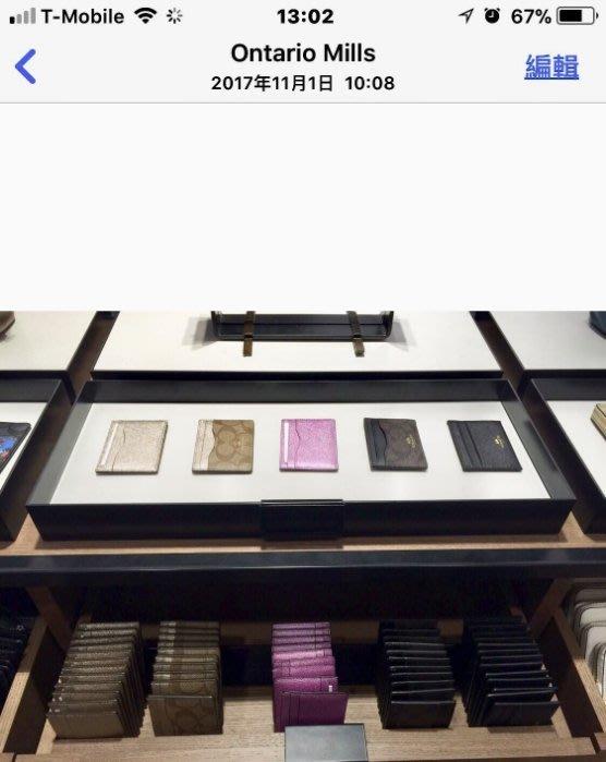 JJ美國代購~COACH 12773 名片夾 卡夾  防刮PVC  標籤收據  另售57830  63279 86147