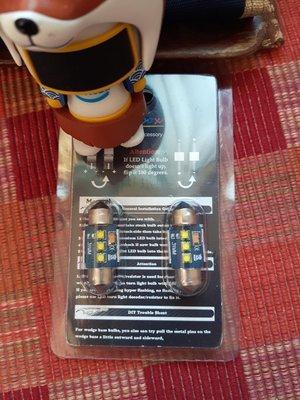 (1pair)解碼 31mm Canbus 6000K 亮白光 CREE Led 雙尖 C5W festoon 36 39 41mm X-BD 室內燈 牌照燈