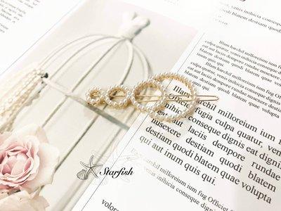 【海星 Starfish】韓妞圈圈造型珍珠髮夾