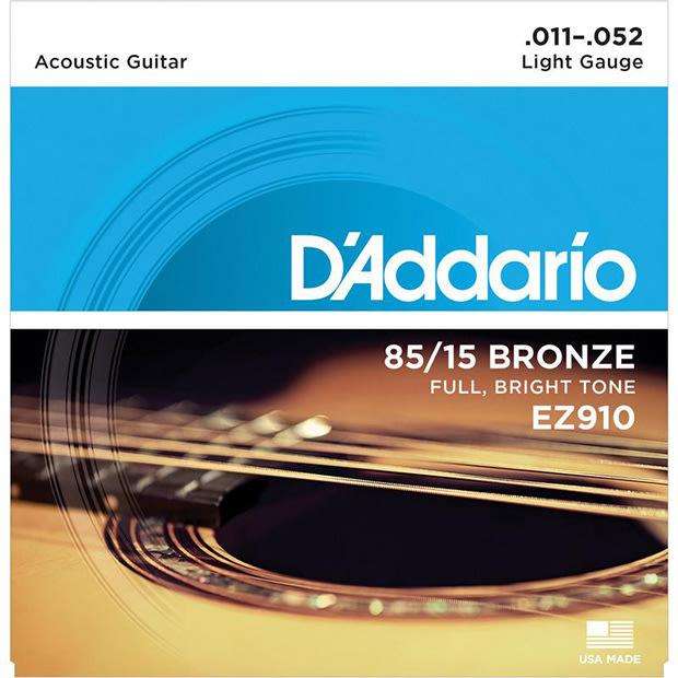【現代樂器】3包免運!美國製Daddario EZ910 木吉他 / 民謠吉他弦 原廠公司貨
