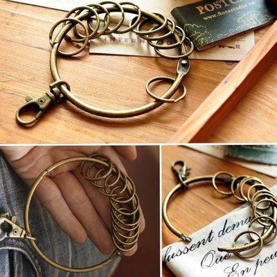 復古大鑰匙圈 紅銅色 古銅色 金屬鑰匙圈 大鑰匙圈 管家鑰匙圈 鑰匙環