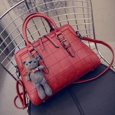 貝殼包 手提包(微瑕賠售出清、恕不退換)-時尚簡約軟面菱格肩背女包包6色72an1[獨家進口][米蘭精品]