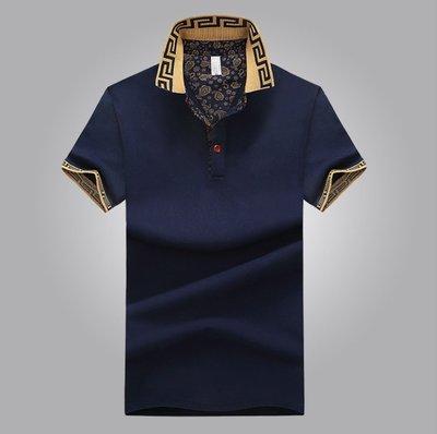 POLO衫中年男商務休閑短袖T恤夏天舒適透氣上衣男裝