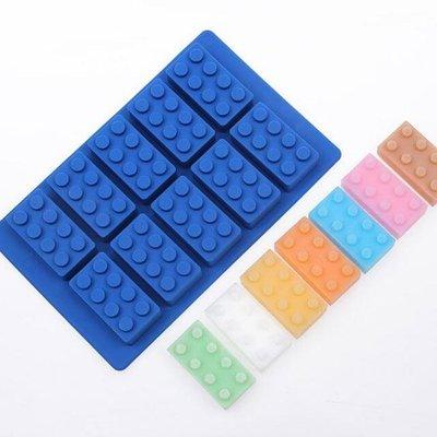 《Jami Honey》【JH1047】組合積木巧克力果凍矽膠模具 製冰盒 (10格) 『不挑款』