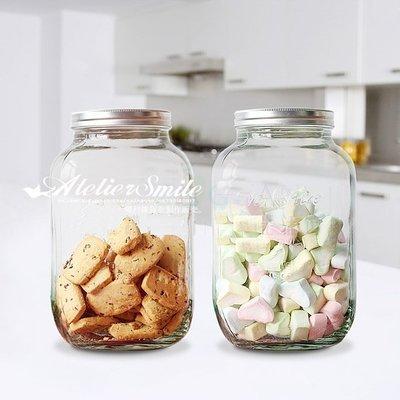 [ Atelier Smile ] 鄉村雜貨 美式復古 梅森飲料桶 密封餅乾桶 儲物罐 4公升 野餐 露營 (現+預)