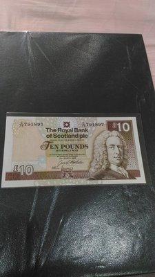 蘇格蘭(Scotland), 10 POUNDS, 1994年, UNC全新, 稀少紙鈔!