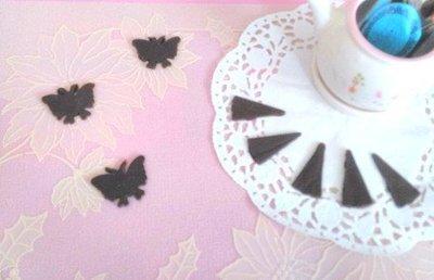 (甜心手作坊)蝴蝶瓦片模 薄片巧克力模 餅乾模 1個