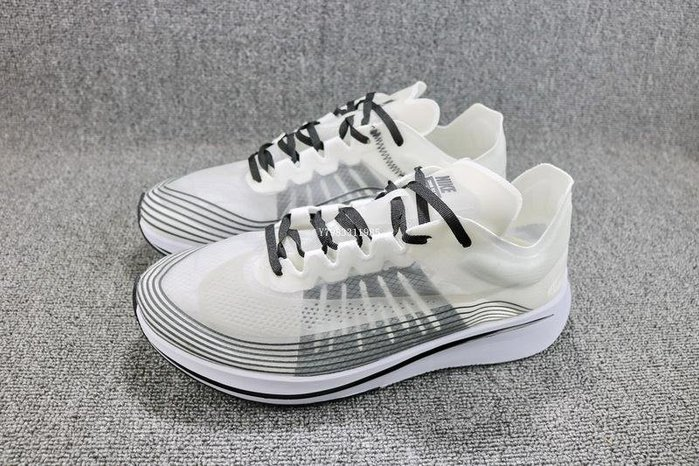 Nike LAB Zoom Fly SP 黑白 百搭 透明 休閒慢跑鞋 男女鞋 AA3172-101