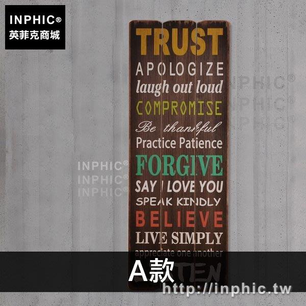 INPHIC-酒吧英文字母復古牆面咖啡廳木板畫裝飾品美式主題餐廳壁飾-A款_EETs