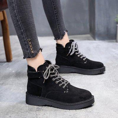 馬丁靴 機車靴 秋冬 短筒靴小短靴女新款秋冬韓版馬丁靴女英倫風百搭粗跟靴子女學生棉鞋