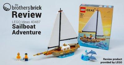 現貨 LEGO 樂高 40487 Ideas 系列 帆船冒險 Sailboat Adventure 全新未拆 公司貨