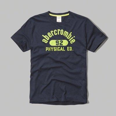 Maple麋鹿小舖 abercrombie&fitch * A&F 男童款貼布電繡字母短T*( 現貨XL號 )