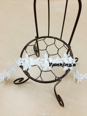 【芬妮卡Fanning服飾材料工坊】滿版小花朵蕾絲 2cm 1碼入