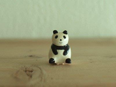 《散步生活雜貨-印章散步》日本進口 T-Lab 木質動物 造型印章-熊貓(白)