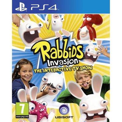 全新未拆 PS4 瘋狂兔子全面入侵略互動TV遊戲-英文版- Rabbids Invasion